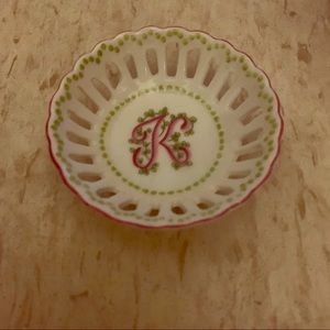 Other - Jewelry & Ring Dish with 'K' Monogram